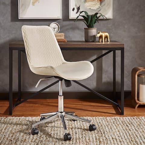 Nessa Velvet Ripple Pattern Office Chair by iNSPIRE Q Modern - Office Chairs