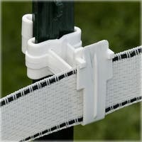 Fi-Shock ITTW-FS T-Post Polytape Insulator, 25/Bag, White