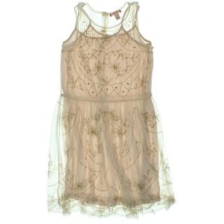 Ruby & Bloom Girls Beaded Casual Dress - 12