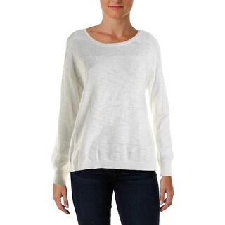 Two by Vince Camuto Womens Pullover Sweater Striped Crew Neck