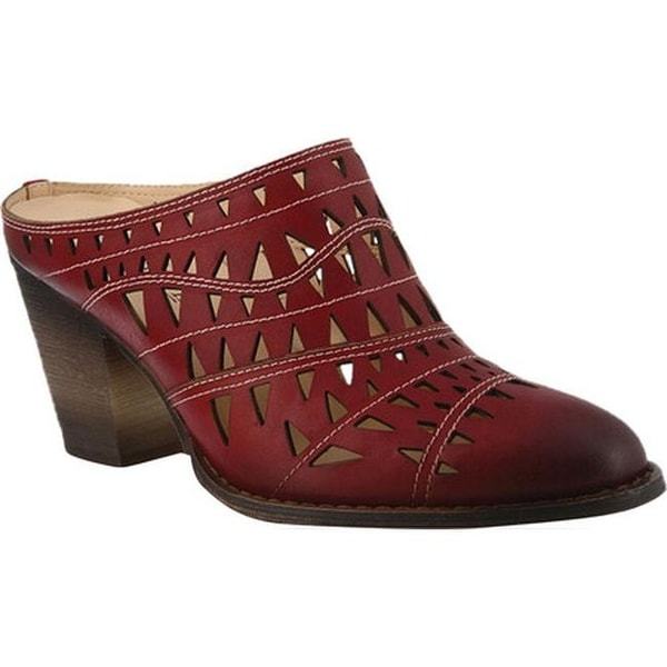 1abf2d0a46 Shop L'Artiste by Spring Step Women's Jackpot Mule Dark Red Leather ...