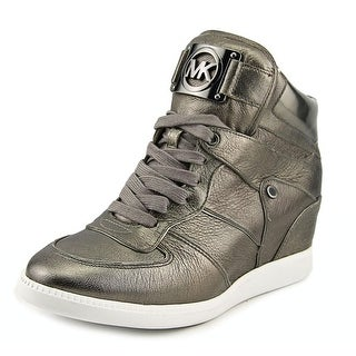 Michael Michael Kors Nikko High Top Women Round Toe Leather Gray Sneakers