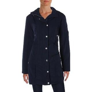Lauren Ralph Lauren Womens Petites Jacket Raincoat Waterproof - pl