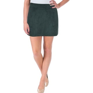 French Connection Womens Patty Mini Skirt Faux Suede Special Occasion