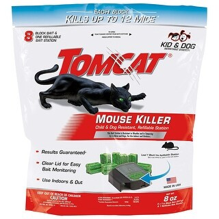 Tomcat 037201005 Refillable Mouse Bait Station, 8 Oz