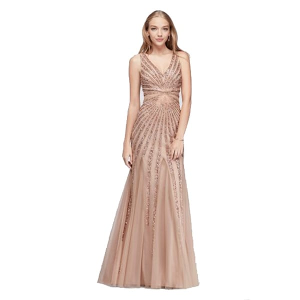 7ecc3d6def63 Shop Adrianna Papell Beaded Sunburst Mesh Mermaid Dress