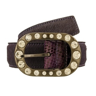 Renato Balestra Suta VL NR Purple/Black Leather Womens Belt