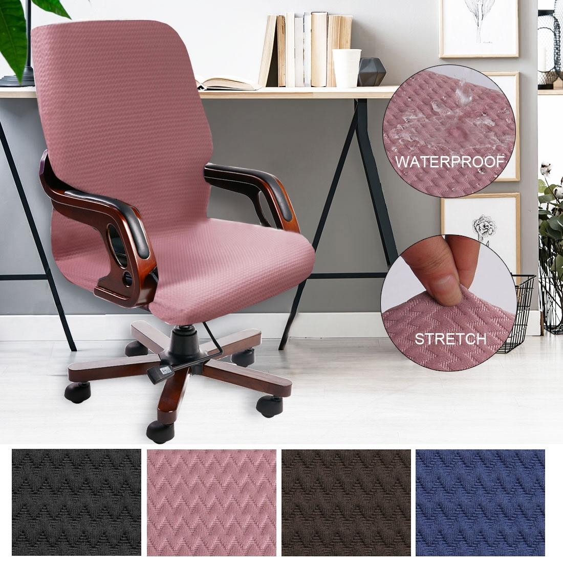 Image of: Shop Black Friday Deals On Spandex Computer Chair Cover Office Armchair Slipcover Waterproof Overstock 30677652