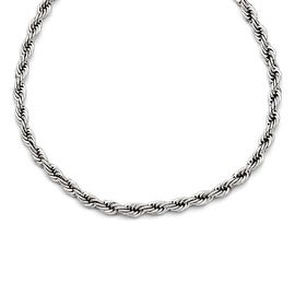 Chisel Stainless Steel Polished 24in 6mm Rope Necklace (6 mm) - 24 in