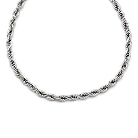 Chisel Stainless Steel Polished 6mm Rope Necklace (6 mm) - 22 in