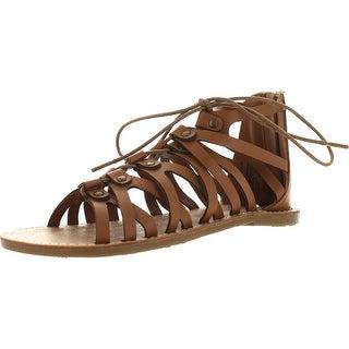 Kenneth Cole Girls Groovy Gladiator Sandals - Tan - 3 m us little kid