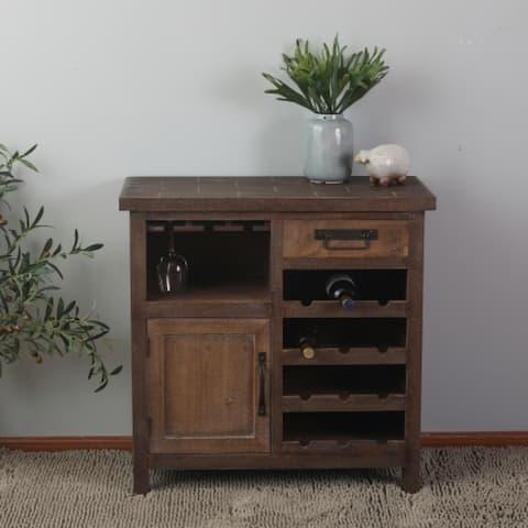 Wine Station Wood Storage Cabinet