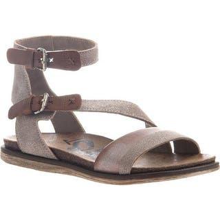 f76ca1714b2 OTBT Women s March Strappy Sandal Grey Silver Leather