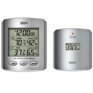 Taylor 91756 Wireless Thermometer With Indoor/Outdoor Humidity & Clock