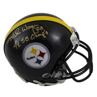 ce9e601f2f1 Mike Wagner Autographed Pittsburgh Steelers Riddell Mini Helmet 4x SB  Champs SGC