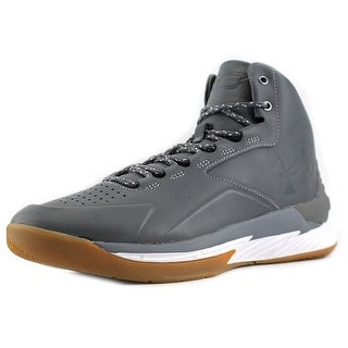 Under Armour Curry 1 Lux Mid Men Round Toe Leather Gray Basketball Shoe