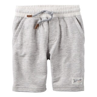 Carter's Little Boys' Pull-On French Terry Shorts, 3-Toddler - gray