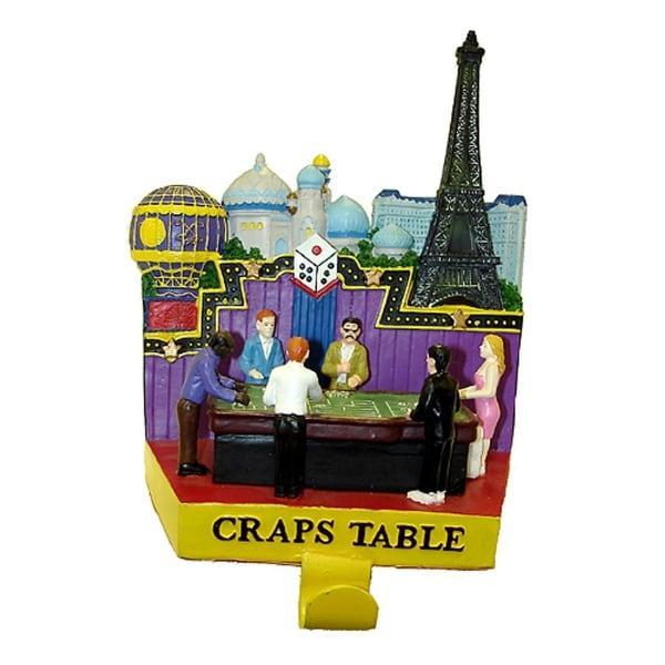 "7.25"" Casino Gambling Craps Table Christmas Stocking Holder"