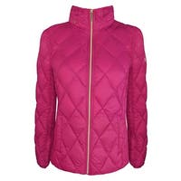 Michael Michael Kors Womens Bright Pink Packable with Hidden Hood