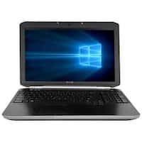 "Refurbished Laptop Dell Latitude E5520 15.6"" Intel Core i5-2520M 2.5GHz 4GB DDR3 250GB Windows 10 Pro 1 Year Warranty - Black"