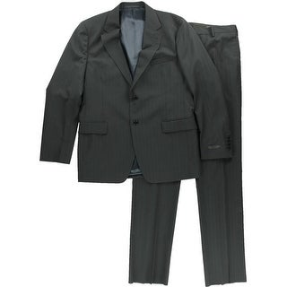 Prada Mens Wool Tonal Stripe Two-Button Suit - 54r