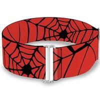 Spider web Red Black Cinch Waist Belt   ONE SIZE