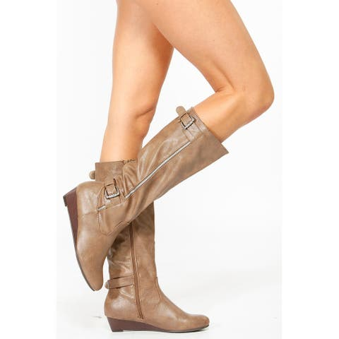 4a25cc28f5a Buy Bamboo Women's Boots Online at Overstock | Our Best Women's ...