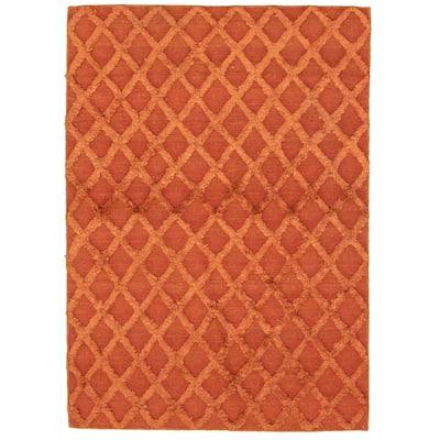 ECARPETGALLERY Flat-weave Cambridge Copper Kilim - 4'3 x 6'1