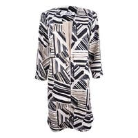 Kasper Women's Abstract-Print Ottoman Jacket - Clay Multi