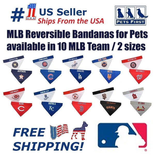 465c42c1d47 Shop Pets First MLB Dog Bandana - Licensed
