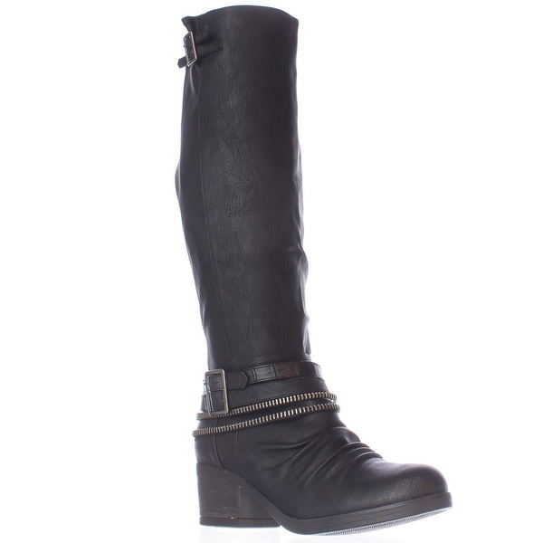 Carlos by Carlos Santana Candace Zipper Lined Knee High Boots, Black