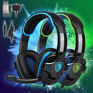 Sades SA-708GT 3.5mm Surround Stereo Gaming LOL Headset Headband Headphone PC w/ Mic PS4 3 Colors