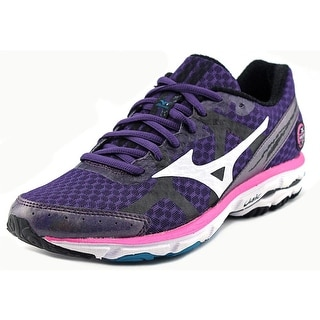 Mizuno Wave Rider 17 Women Round Toe Synthetic Purple Running Shoe