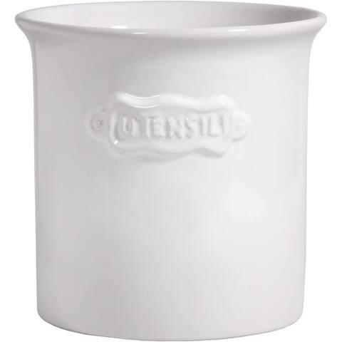 Palais Essentials Ceramic Utensil Crock Utensil Holder