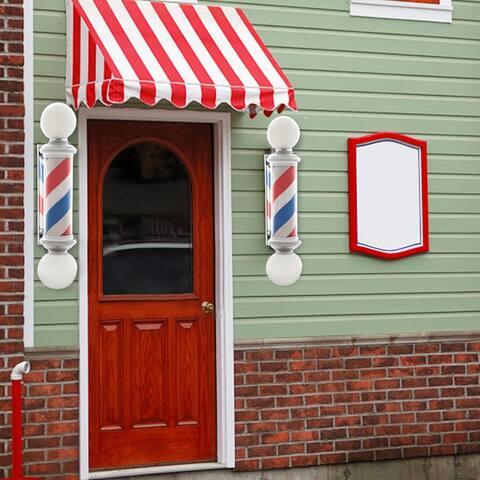 "39"" Rotating Barber Pole Light LED Light US Plug Red & Blue & White"