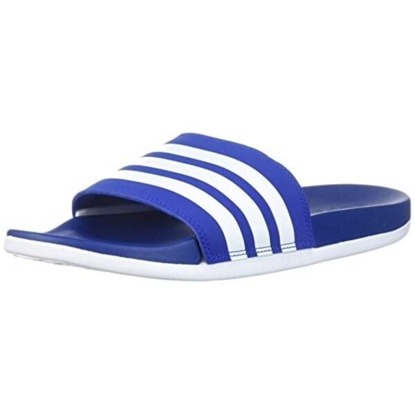 6ccfcc3c1 Shop Adidas Men's Adilette Cf+ Slide Sandal, Collegiate Royal/White ...