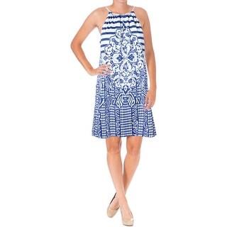Studio M Womens Casual Dress Printed Halter