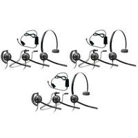 Plantronics EncorePro HW540 with A10 (3-pack) 3-in-1 Mono Corded Headset