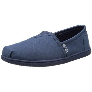 BOBS from Skechers Women's Bliss Spring Step Flat, Navy, 6.5 M US