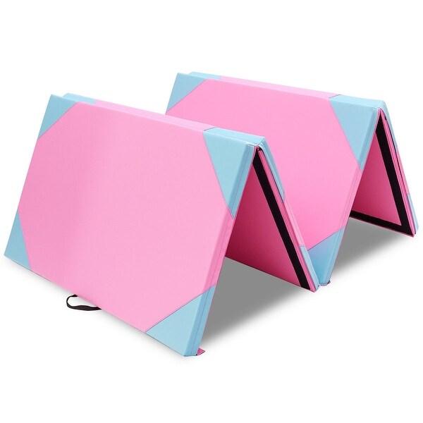 "4' x 10' x 2"" Thick Folding Panel Fitness Exercise Gymnastics Mat"