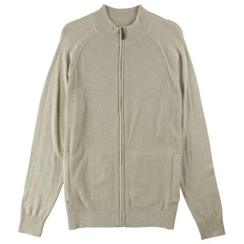 Club Room Mens Textured Cardigan Sweater