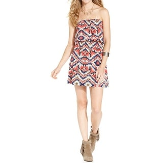 Trixxi Womens Juniors Casual Dress Matte Jersey Printed