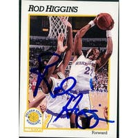 Signed Higgins Rod Golden State Warriors 1991 NBA Hoops Basketball Card autographed