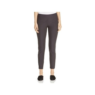Eileen Fisher Womens Petites Ankle Pants Textured Slim Fit