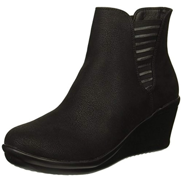 69d1acb17e78 Shop Skechers Women s Rumblers-Beam Me Up-Wedge Heeled Dressy Casual  Striped Gore Chelsea Boot