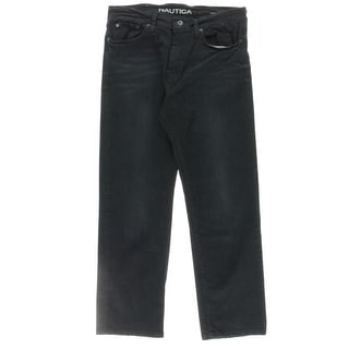 Nautica Mens Relaxed Jeans Denim Whisker Wash