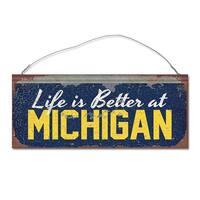 University of Michigan 'Life is Better' Tin Sign
