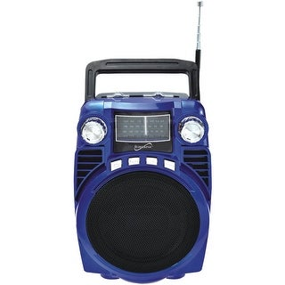 Supersonic Bluetooth Portable 4-band Radio (blue)