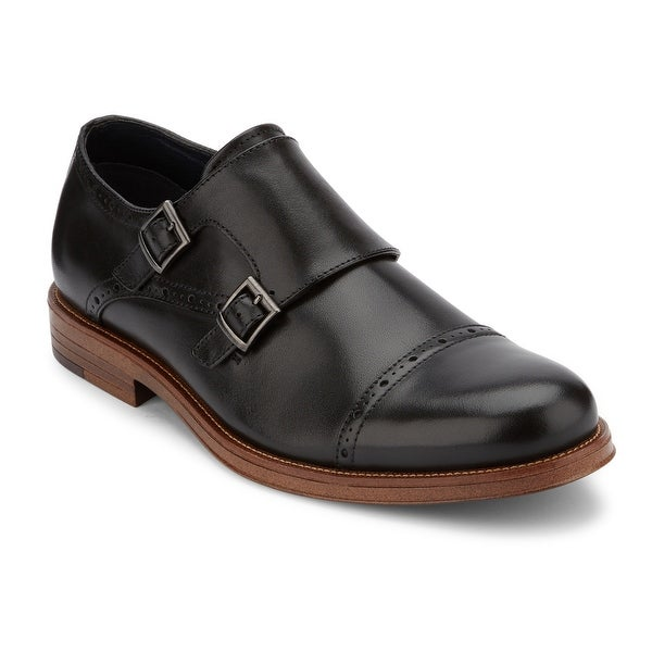 Dockers Mens Maycrest Leather Dress Monk Strap Oxford Shoe