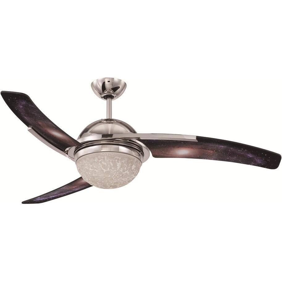 """Craftmade BEL523-LED-UCI Nickel Beltre 52/"""" 3 Blade Indoor Ceiling Fan Remote"""